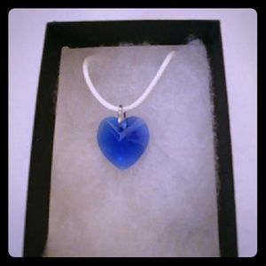 Jewelry - East Coast Blue Crystal Heart Necklace